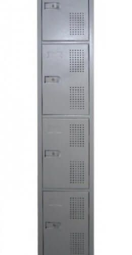 Guarda Volumes De Aço Com 4 Portas Pequenas 198X32X41 Grspl42 MetalPonta